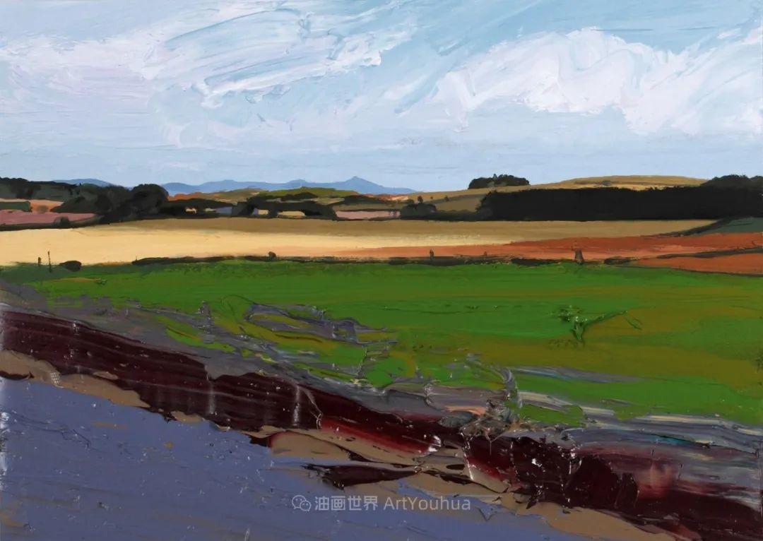 干净简约的油画风景,英国画家克里斯·布什插图37