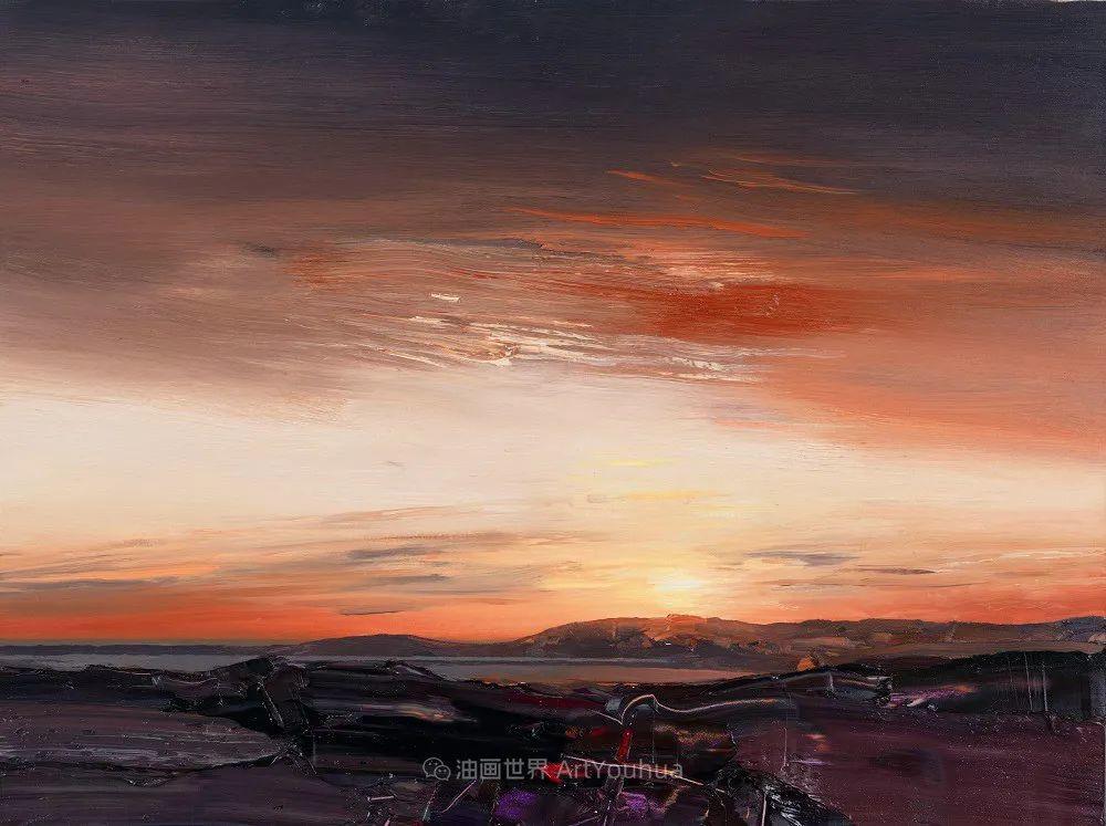 干净简约的油画风景,英国画家克里斯·布什插图47