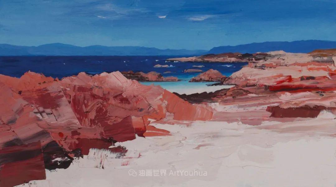 干净简约的油画风景,英国画家克里斯·布什插图49