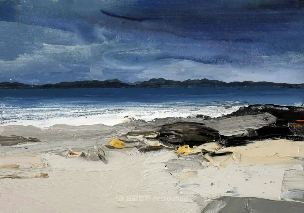干净简约的油画风景,英国画家克里斯·布什插图65