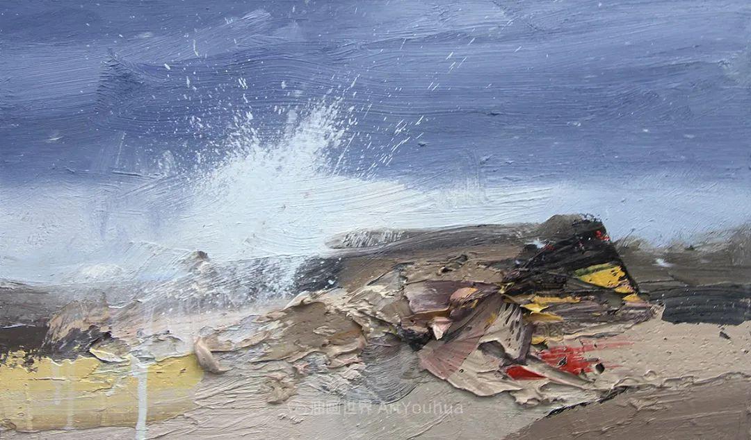 干净简约的油画风景,英国画家克里斯·布什插图67