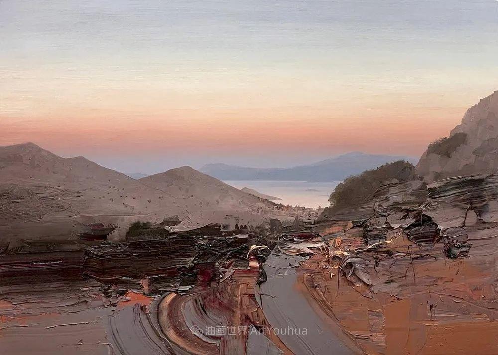 干净简约的油画风景,英国画家克里斯·布什插图69