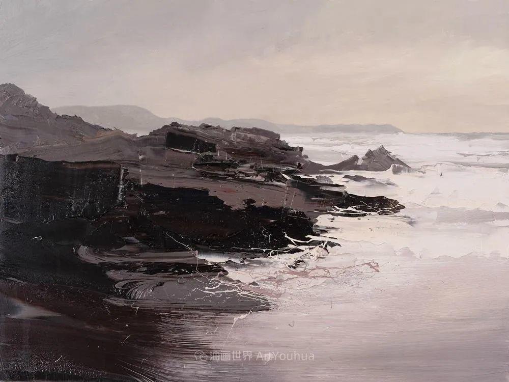 干净简约的油画风景,英国画家克里斯·布什插图71