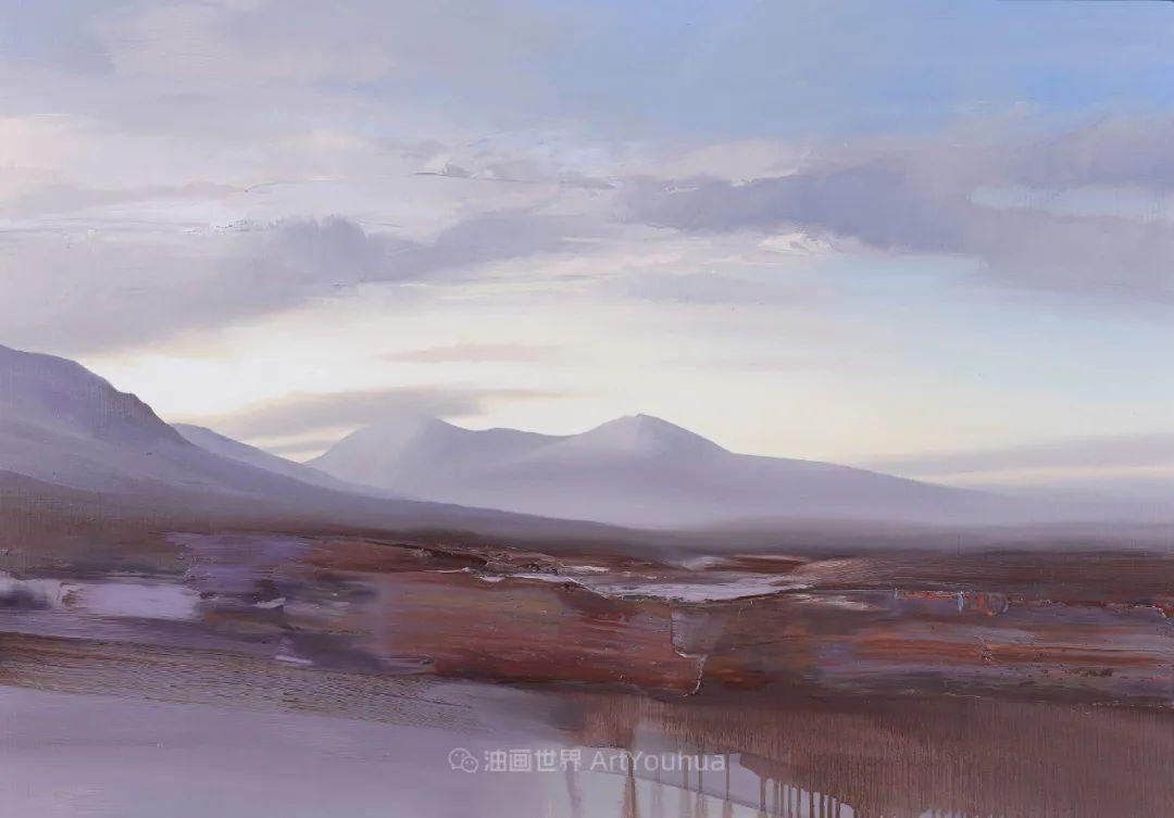 干净简约的油画风景,英国画家克里斯·布什插图75