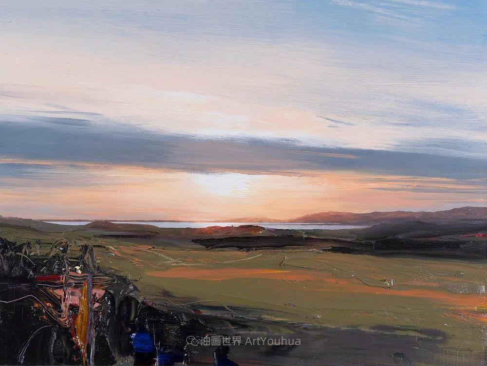 干净简约的油画风景,英国画家克里斯·布什插图81