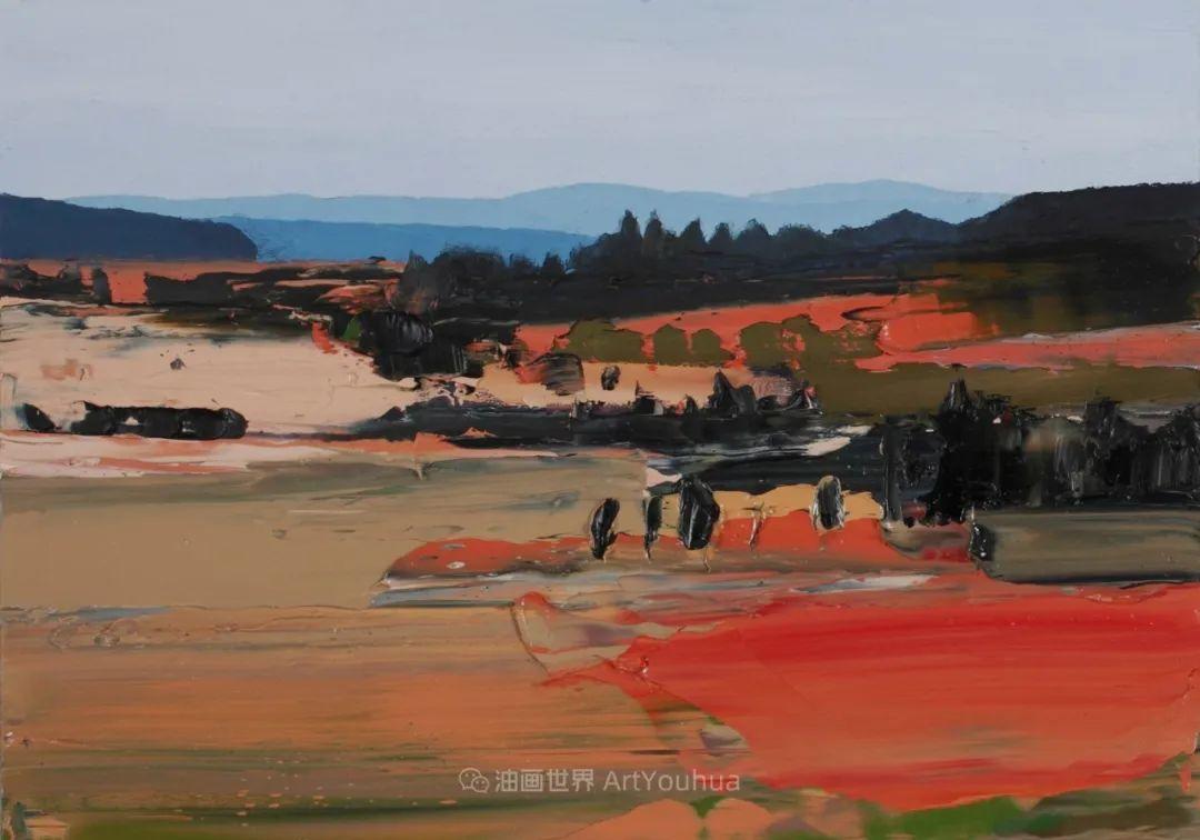 干净简约的油画风景,英国画家克里斯·布什插图83