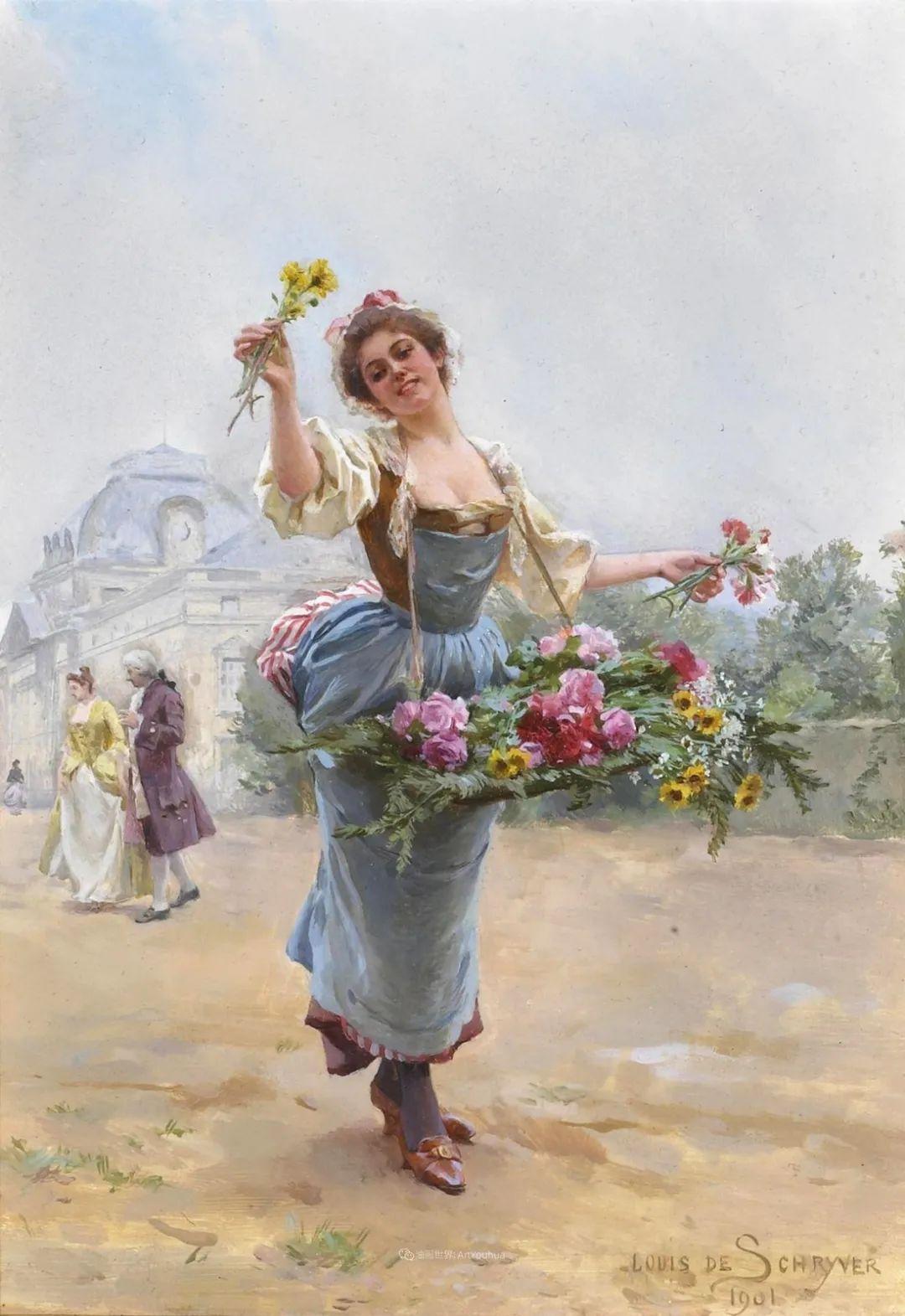 饱蘸亮丽色彩的画笔,描绘着百年前的卖花女郎!插图11