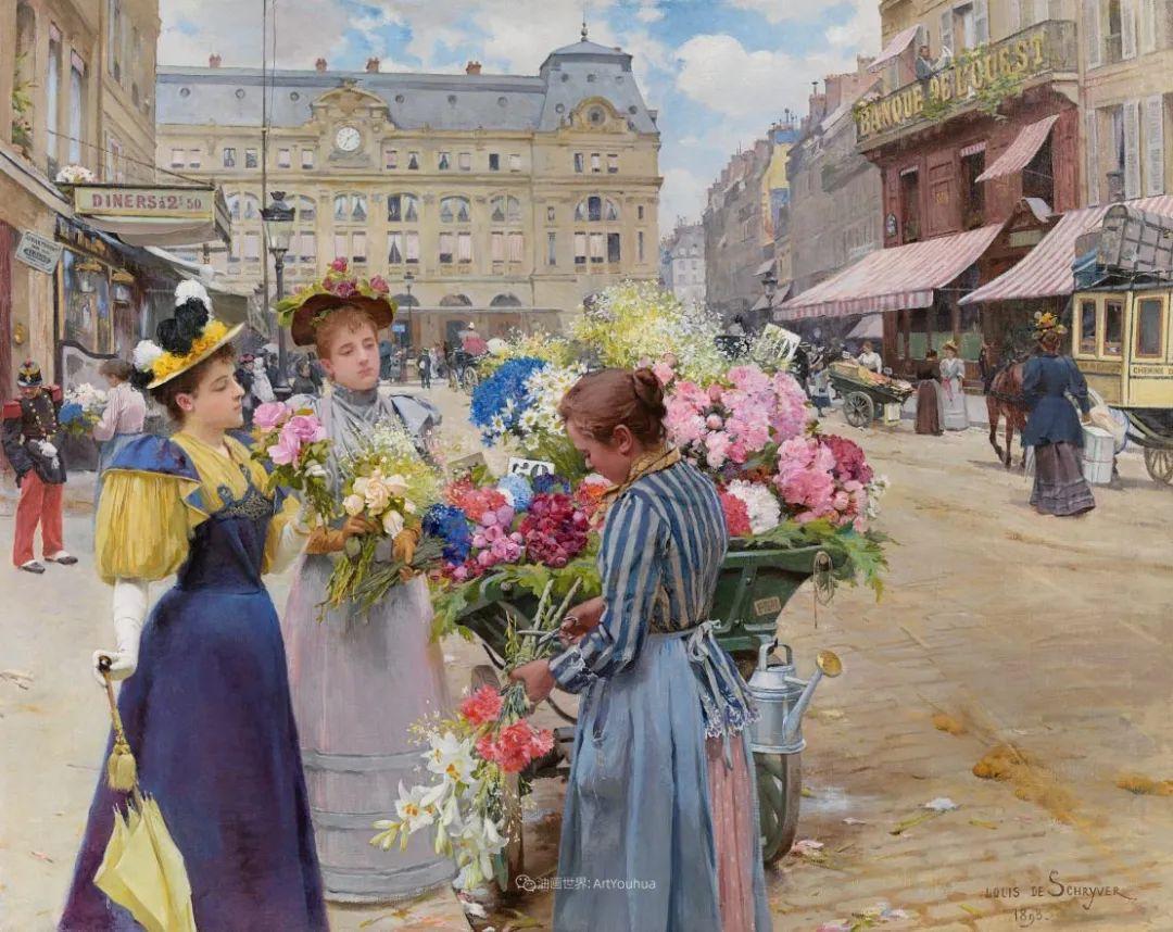 饱蘸亮丽色彩的画笔,描绘着百年前的卖花女郎!插图17