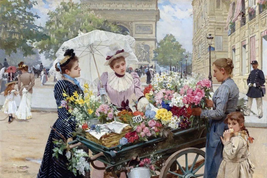 饱蘸亮丽色彩的画笔,描绘着百年前的卖花女郎!插图21
