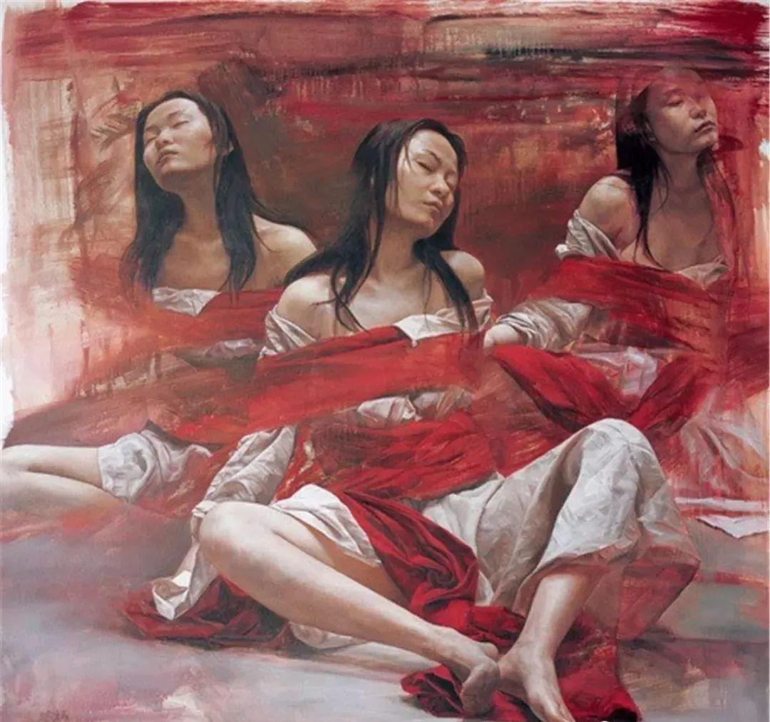 中国油画八人展,美丽的女人和风景!插图1
