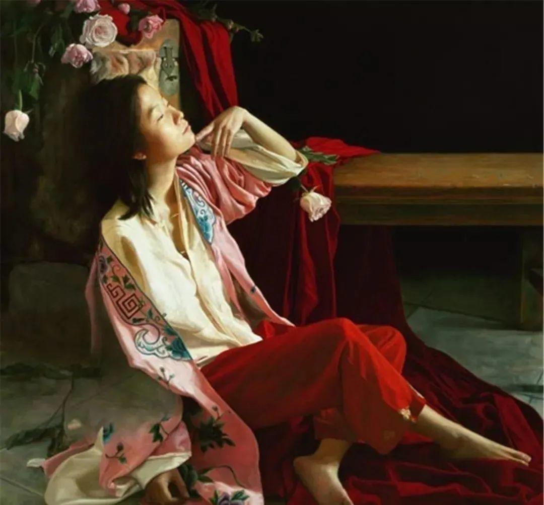 中国油画八人展,美丽的女人和风景!插图4