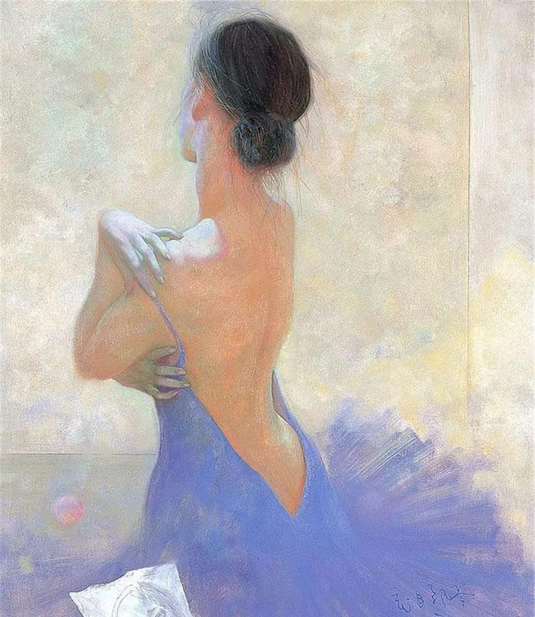中国油画八人展,美丽的女人和风景!插图13