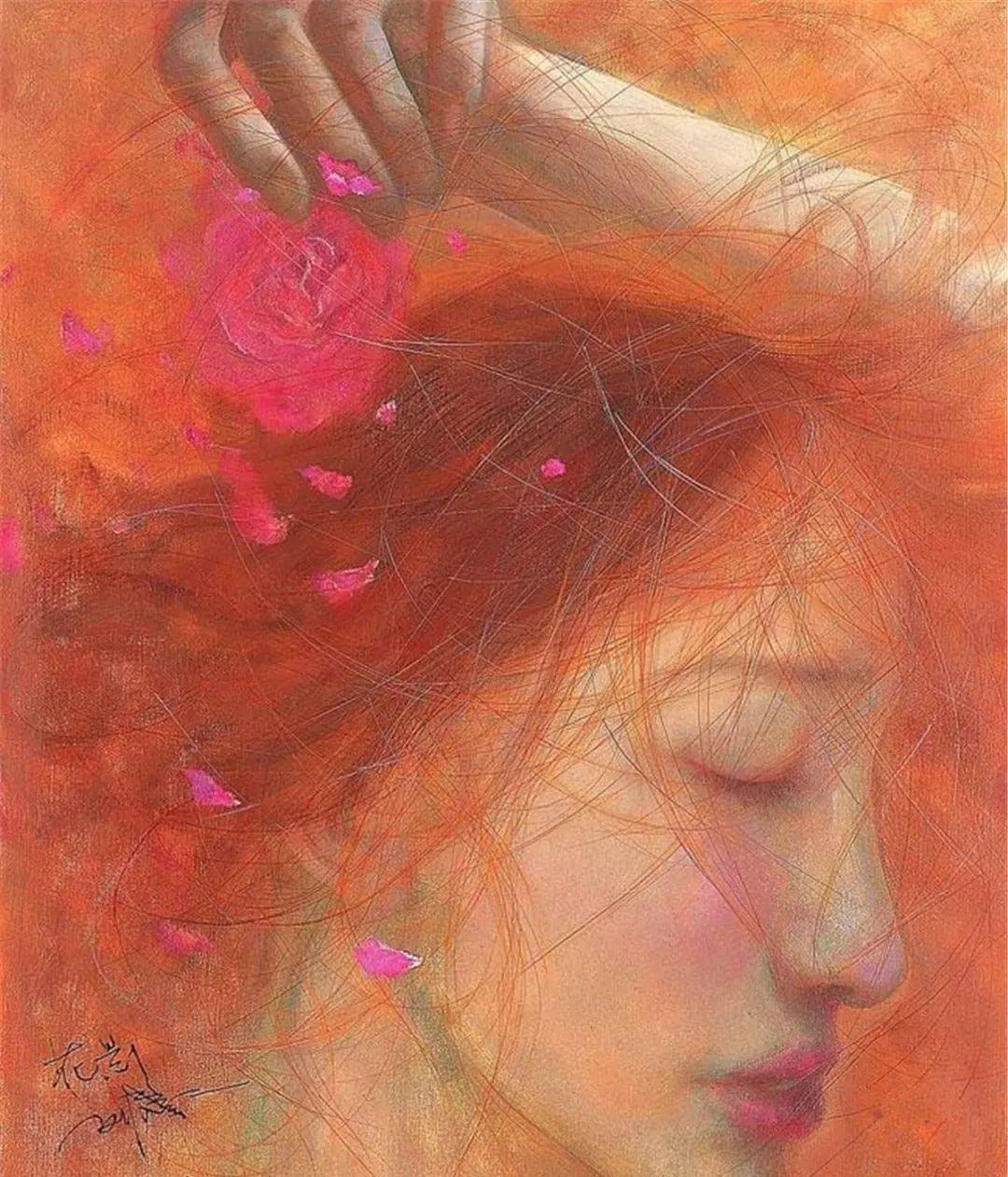 中国油画八人展,美丽的女人和风景!插图14