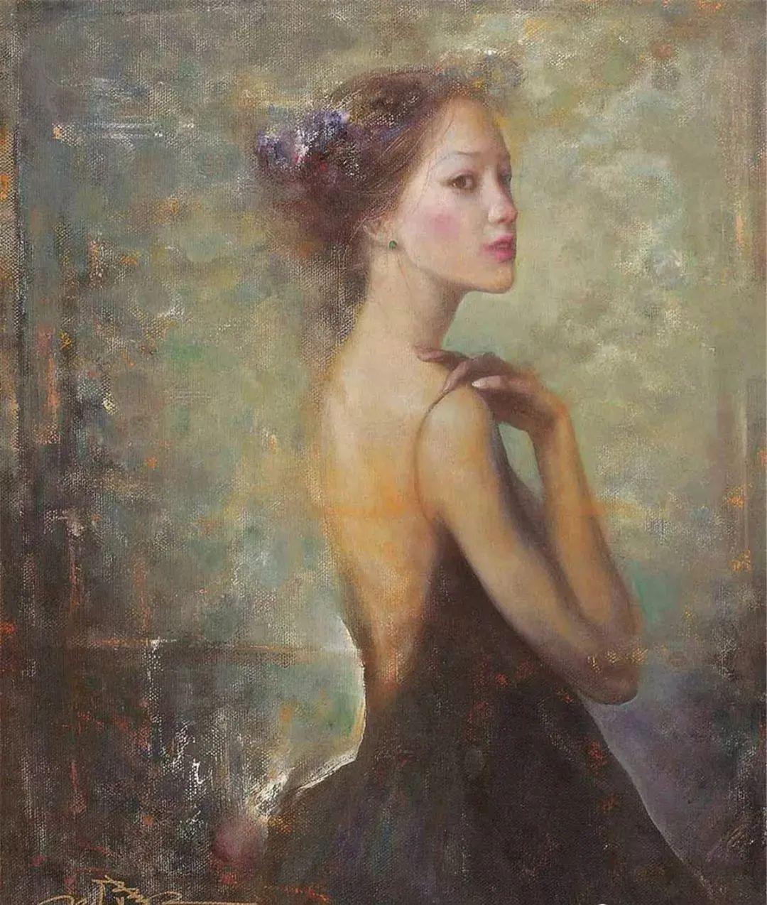 中国油画八人展,美丽的女人和风景!插图15