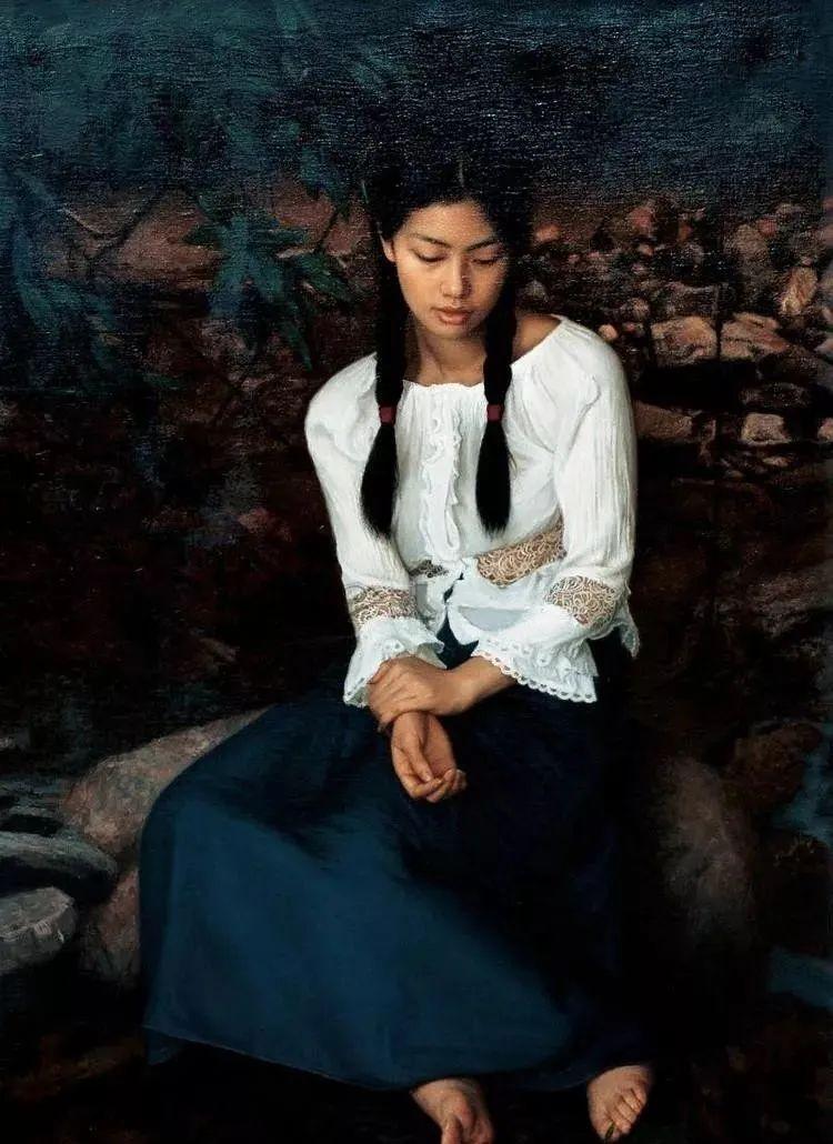 中国油画八人展,美丽的女人和风景!插图30