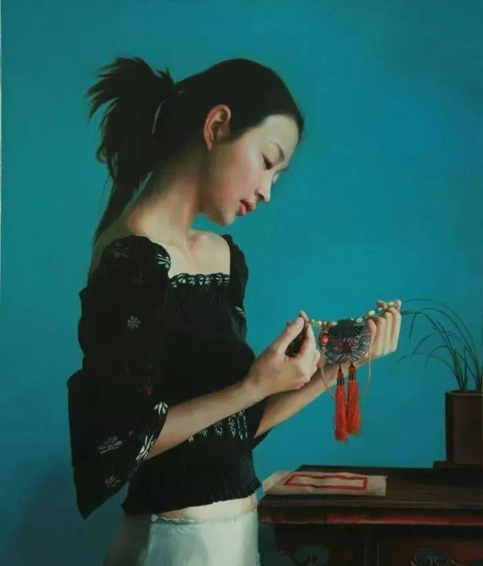 中国油画八人展,美丽的女人和风景!插图38