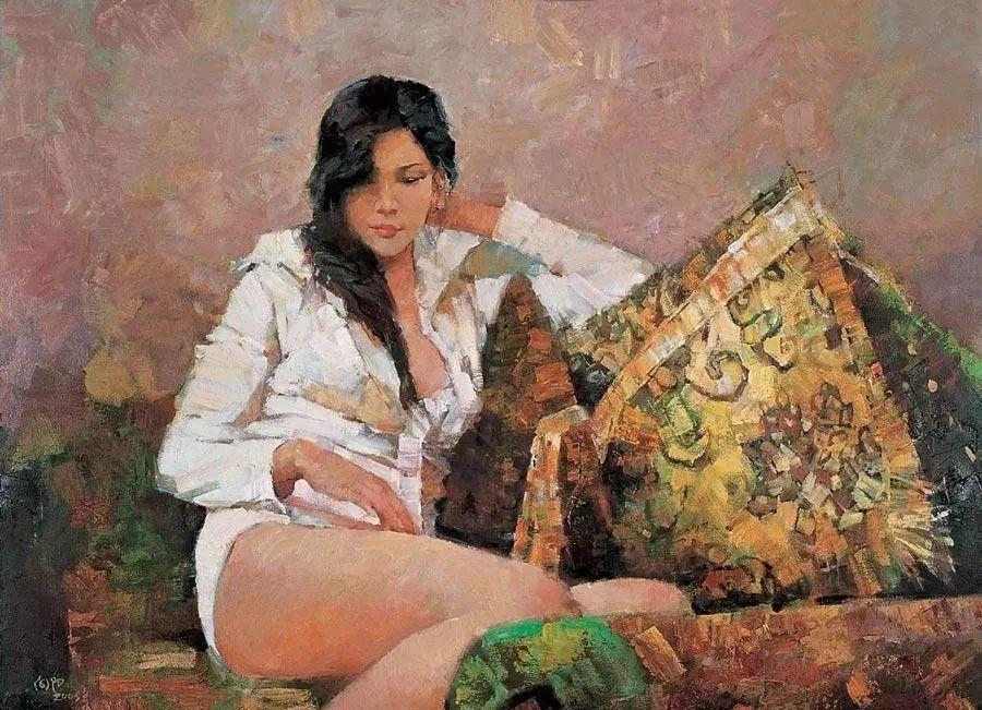 中国油画八人展,美丽的女人和风景!插图40