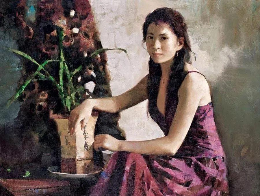 中国油画八人展,美丽的女人和风景!插图42