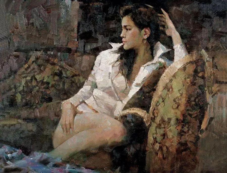 中国油画八人展,美丽的女人和风景!插图43