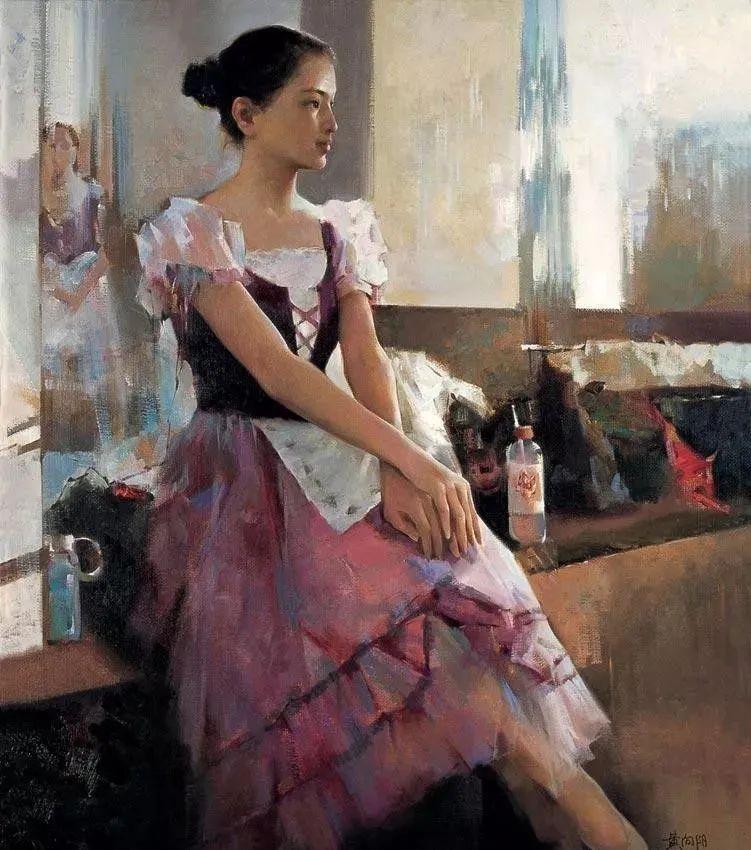 中国油画八人展,美丽的女人和风景!插图45
