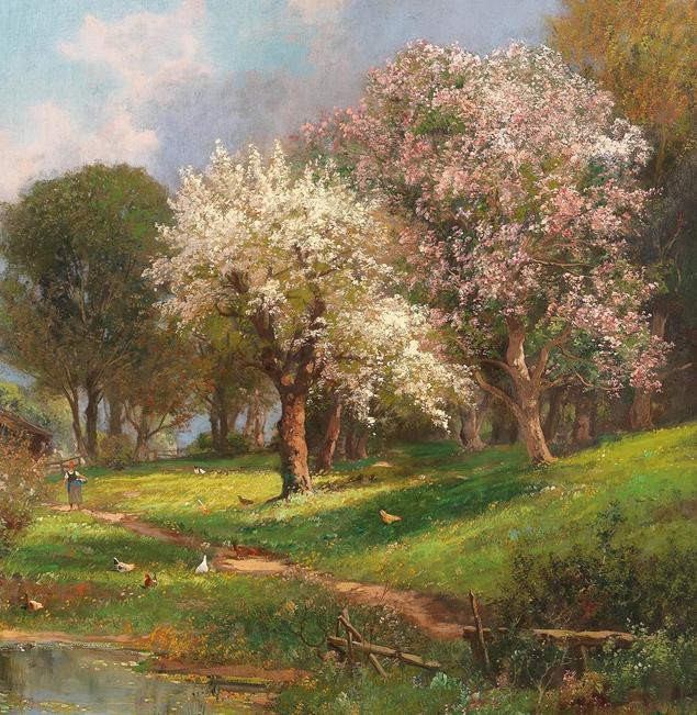 鲜花盛开的宁静乡村,风景美丽而浪漫!插图1