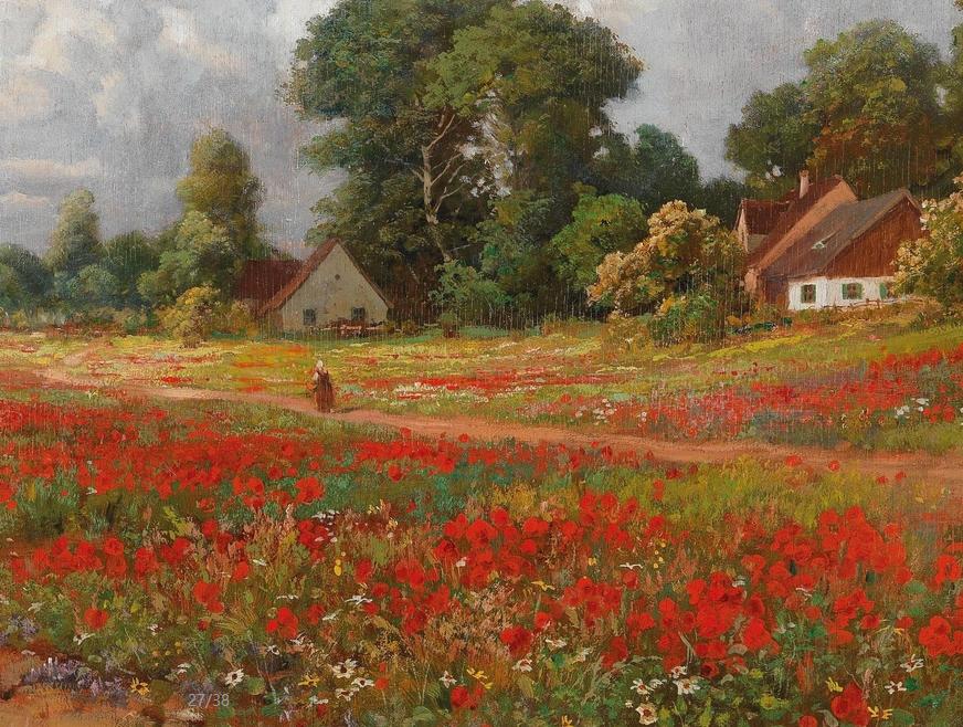鲜花盛开的宁静乡村,风景美丽而浪漫!插图33