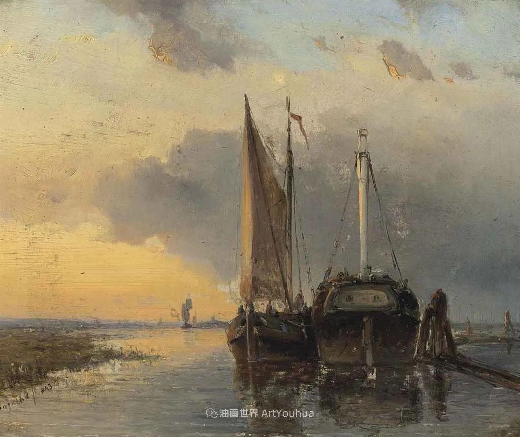 莫奈眼中的老师,印象派的直接启蒙者,荷兰画家约翰·琼坎德插图35