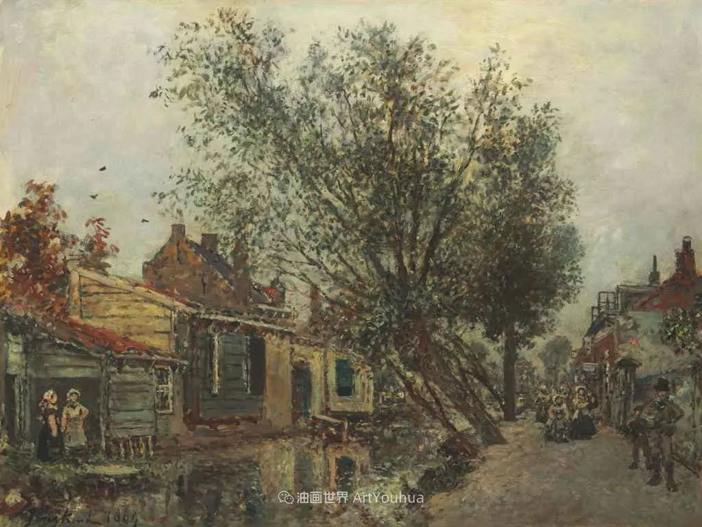 莫奈眼中的老师,印象派的直接启蒙者,荷兰画家约翰·琼坎德插图101