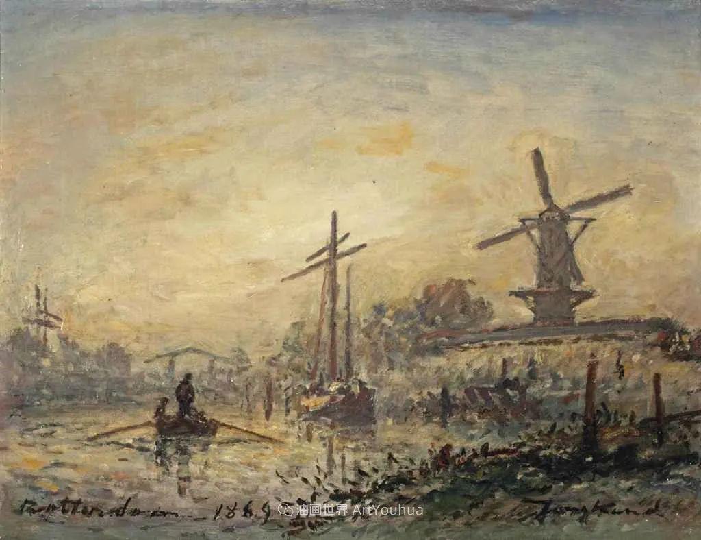 莫奈眼中的老师,印象派的直接启蒙者,荷兰画家约翰·琼坎德插图103