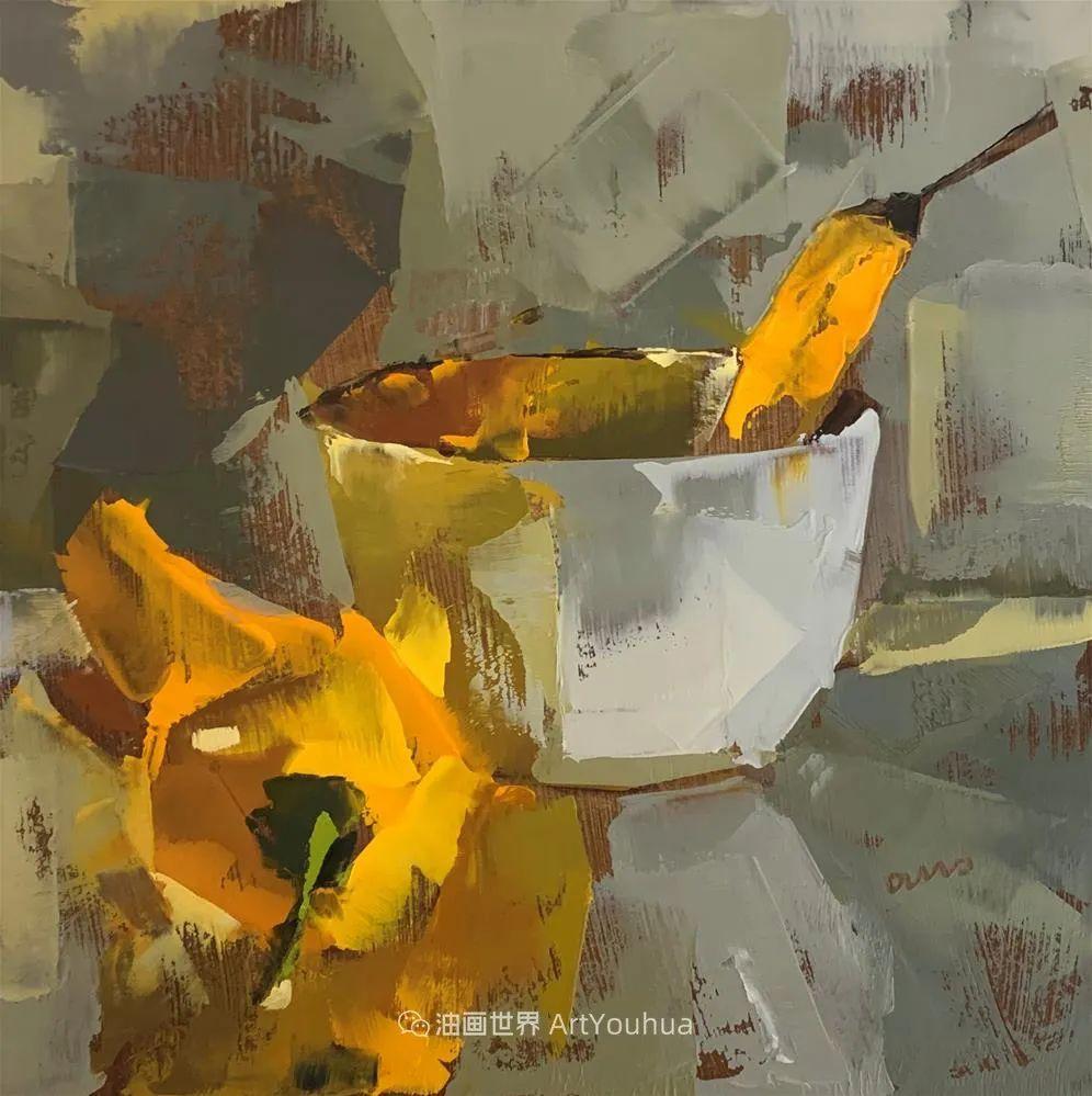超美的色块,极具质感的静物油画!插图5