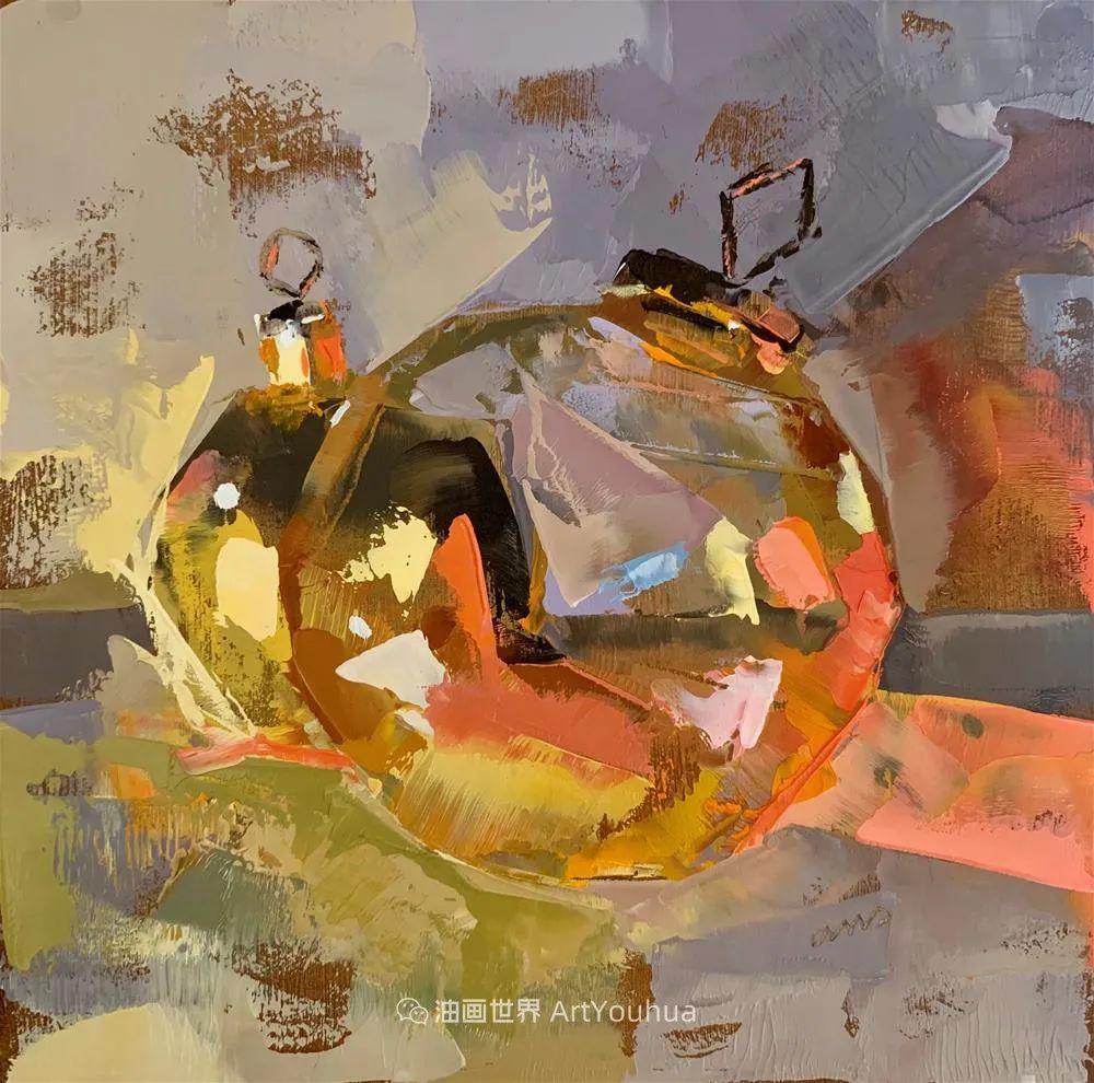 超美的色块,极具质感的静物油画!插图9