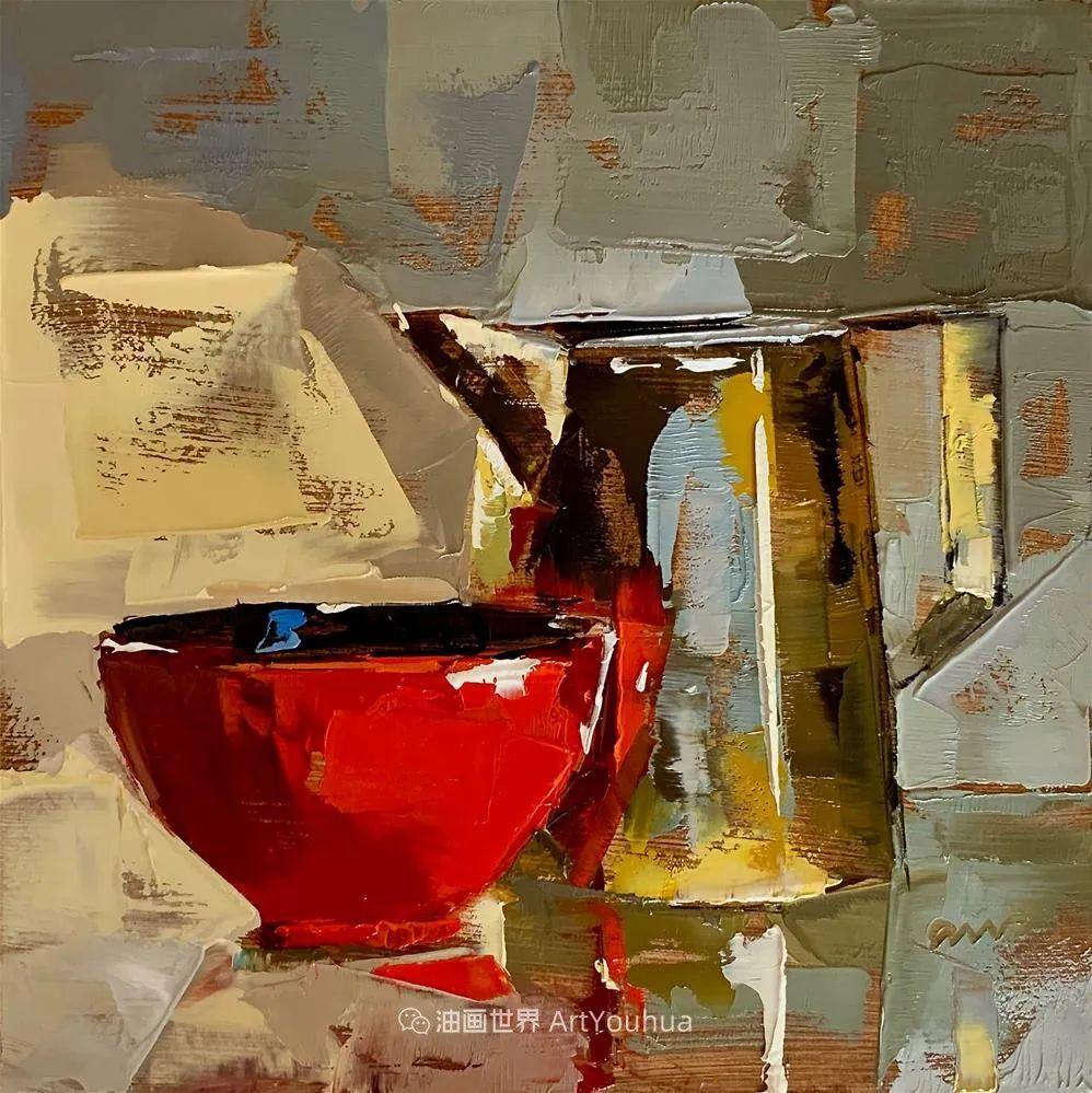 超美的色块,极具质感的静物油画!插图37