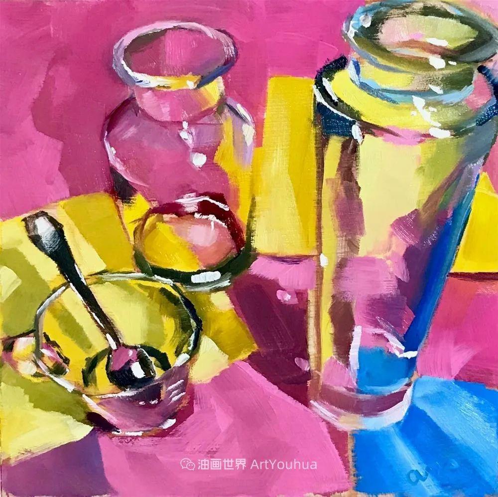超美的色块,极具质感的静物油画!插图71