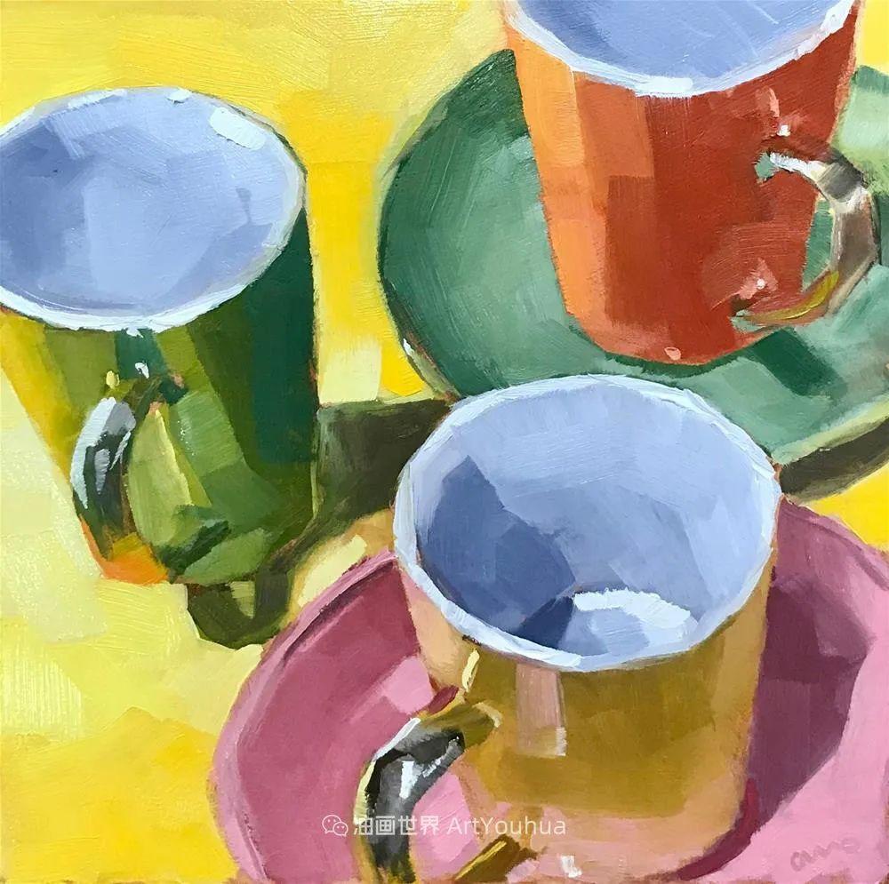 超美的色块,极具质感的静物油画!插图93