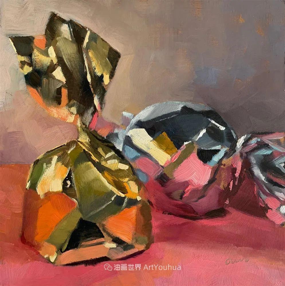 超美的色块,极具质感的静物油画!插图105