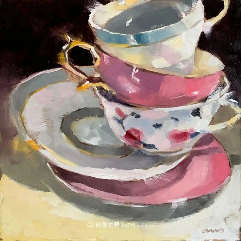 超美的色块,极具质感的静物油画!插图109