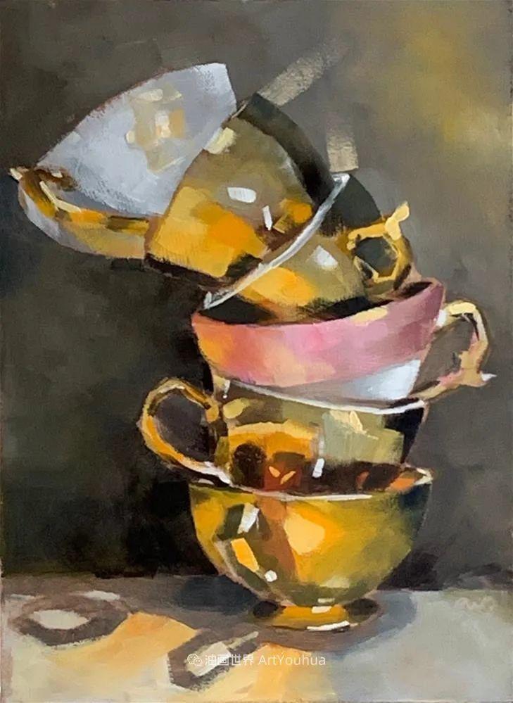 超美的色块,极具质感的静物油画!插图121