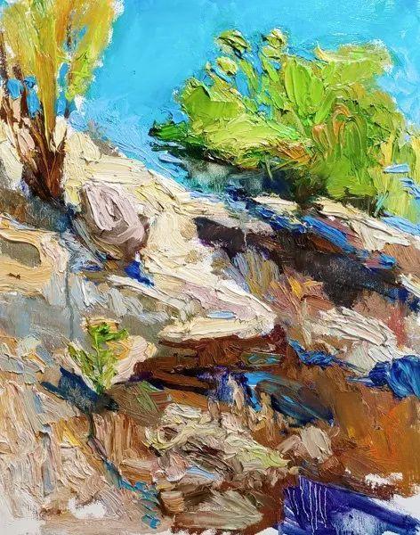 大笔触厚重的油画,色彩大胆,富有表现力!插图53