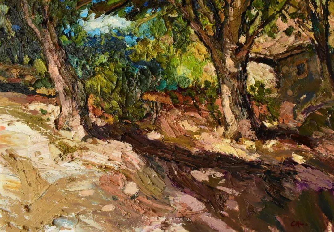 大笔触厚重的油画,色彩大胆,富有表现力!插图69