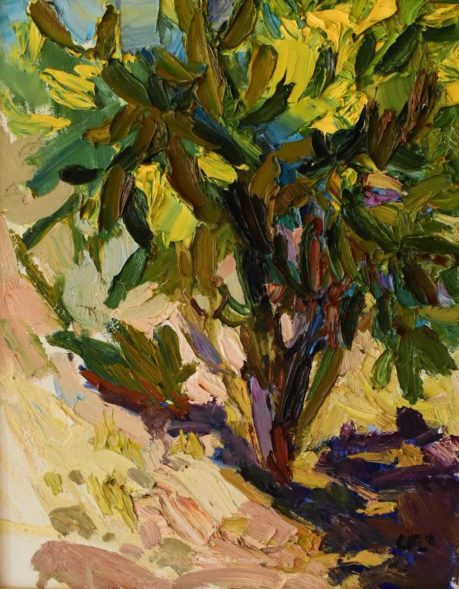 大笔触厚重的油画,色彩大胆,富有表现力!插图75