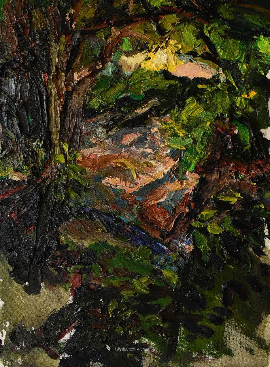 大笔触厚重的油画,色彩大胆,富有表现力!插图79
