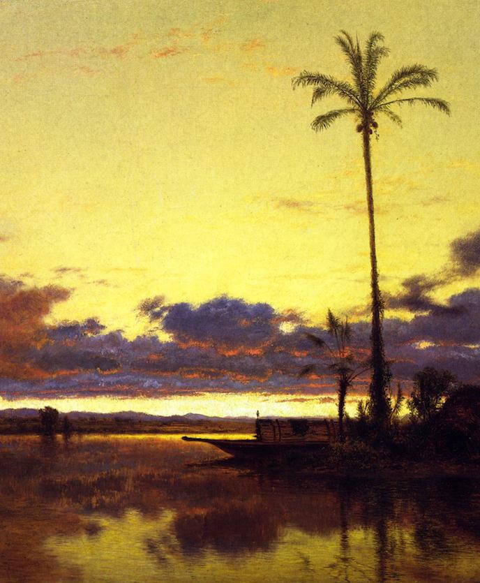 他的风景独具一格,大气、绚丽!美国画家路易斯·米格诺特插图1
