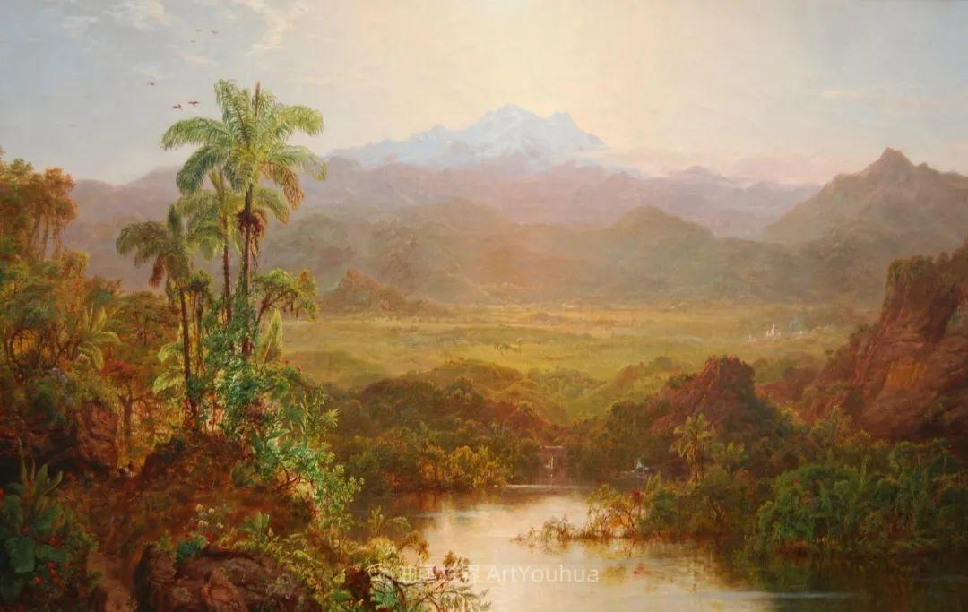 他的风景独具一格,大气、绚丽!美国画家路易斯·米格诺特插图3