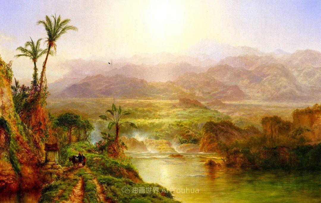 他的风景独具一格,大气、绚丽!美国画家路易斯·米格诺特插图7