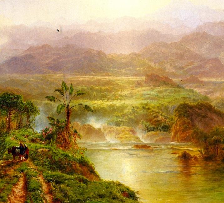 他的风景独具一格,大气、绚丽!美国画家路易斯·米格诺特插图9