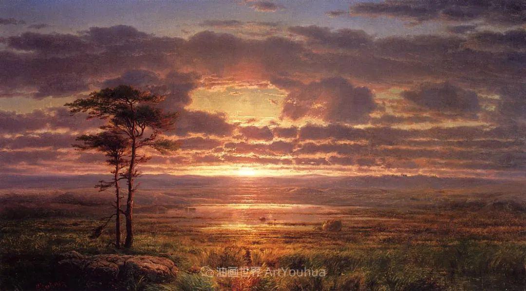 他的风景独具一格,大气、绚丽!美国画家路易斯·米格诺特插图13
