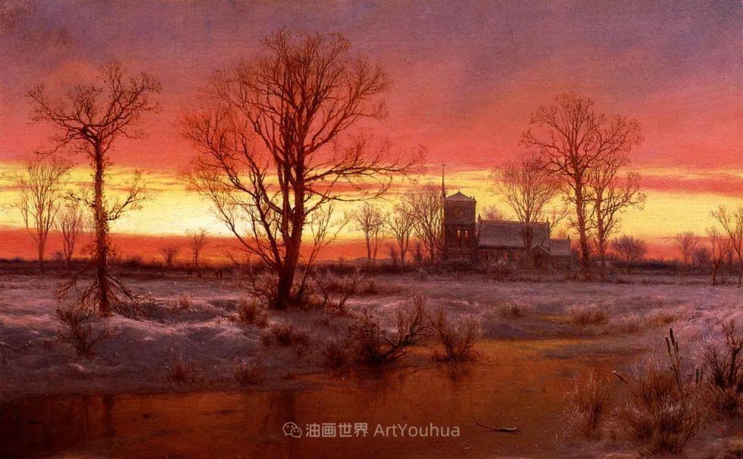 他的风景独具一格,大气、绚丽!美国画家路易斯·米格诺特插图17