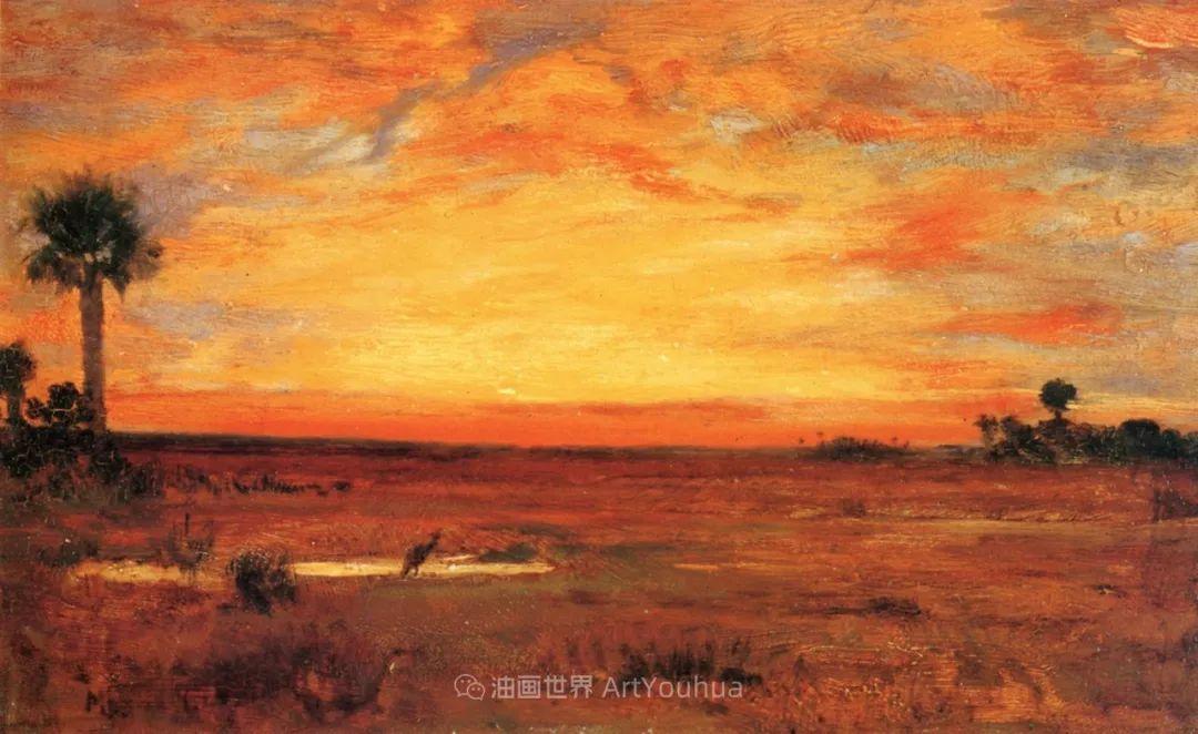 他的风景独具一格,大气、绚丽!美国画家路易斯·米格诺特插图21
