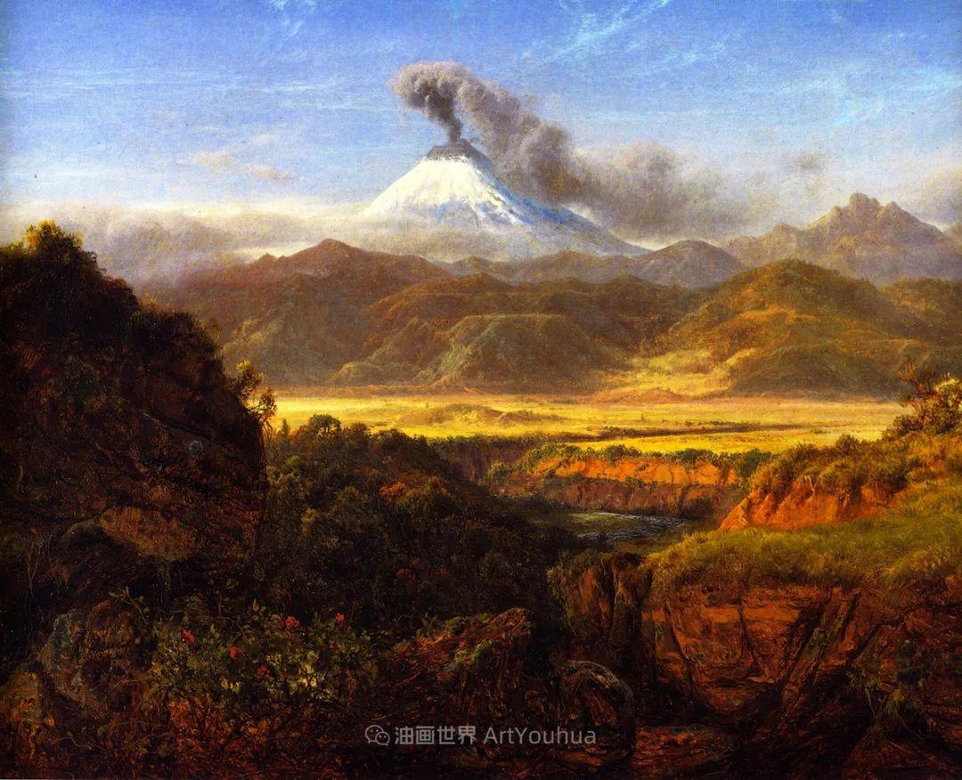 他的风景独具一格,大气、绚丽!美国画家路易斯·米格诺特插图33