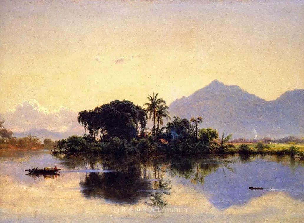 他的风景独具一格,大气、绚丽!美国画家路易斯·米格诺特插图37
